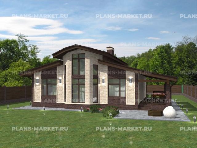 Готовый проект загородного дома Гс-156