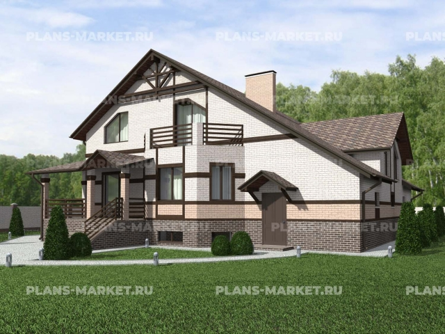 Готовый проект загородного дома К-358