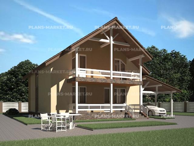 Готовый проект загородного дома Гс-143