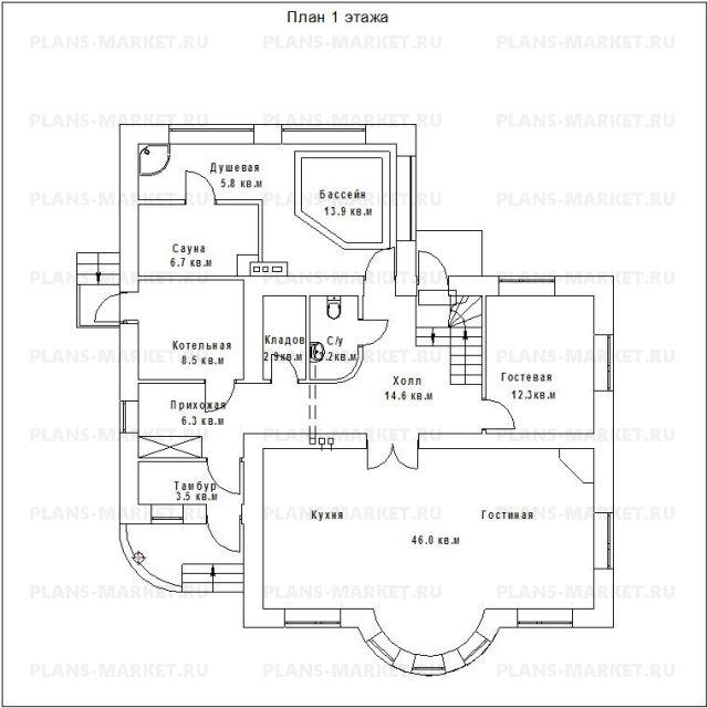 Готовый проект загородного дома ГС-200