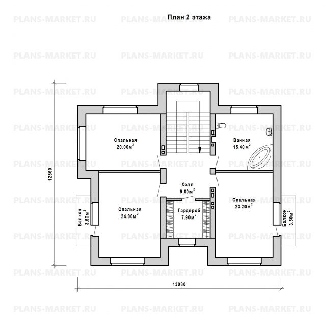 Готовый проект загородного дома Гс-238
