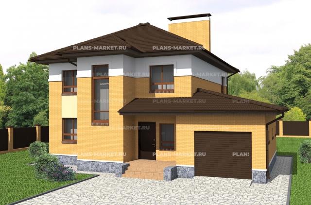 Готовый проект загородного дома К-161