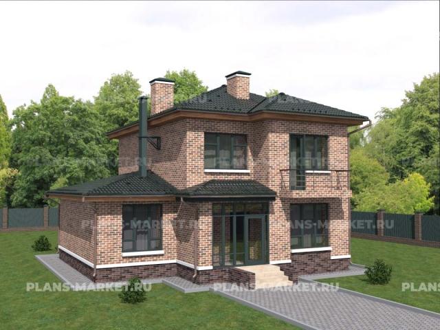 Готовый проект загородного дома К-200