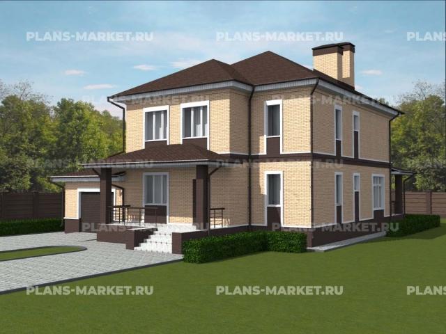 Готовый проект загородного дома К-236