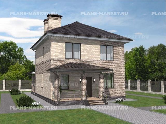 Готовый проект загородного дома К-116