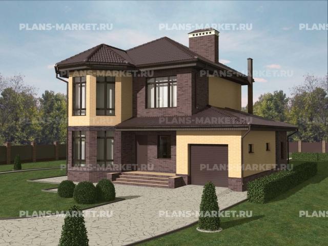 Готовый проект загородного дома Гс-148-4