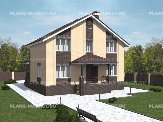 Готовый проект загородного дома К-127