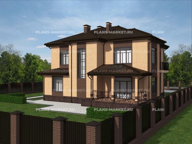 Готовый проект загородного дома Гс-244