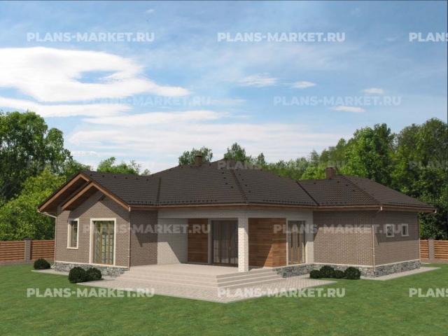 Готовый проект загородного дома К-183а