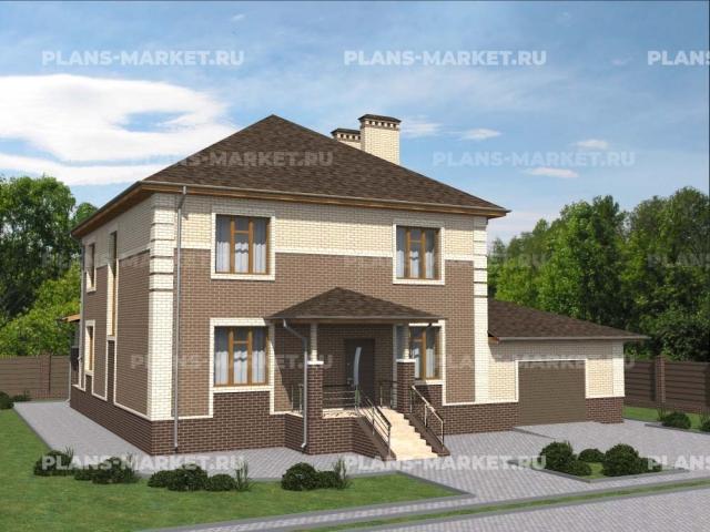 Готовый проект загородного дома Гс-207в