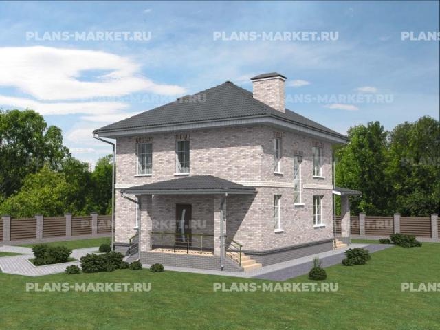 Готовый проект загородного дома Гс-112
