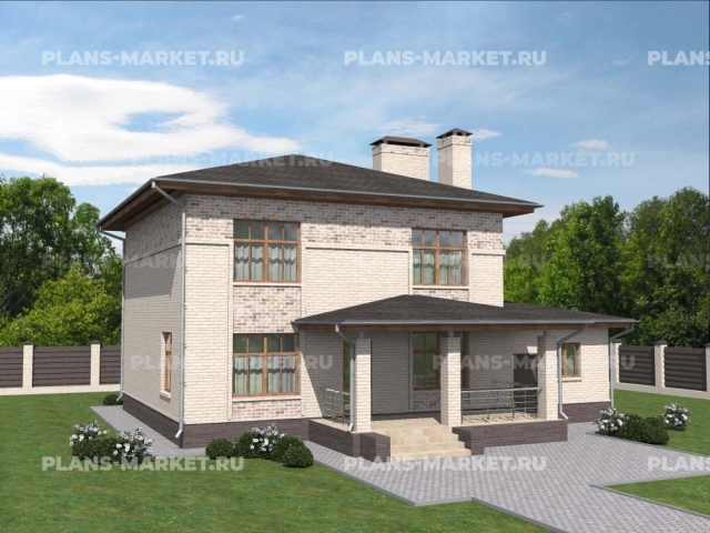Готовый проект загородного дома Гс-185-2