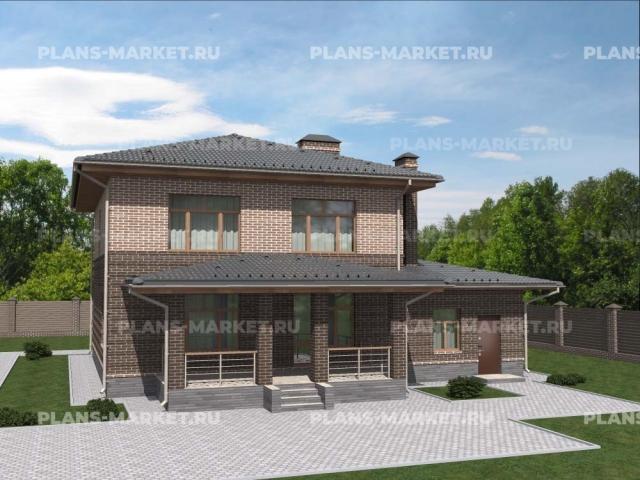 Готовый проект загородного дома Гс-120-2