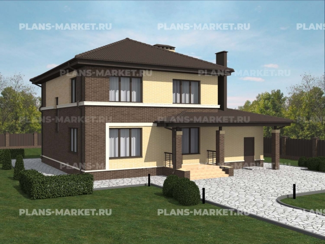 Готовый проект загородного дома Гс-184-1