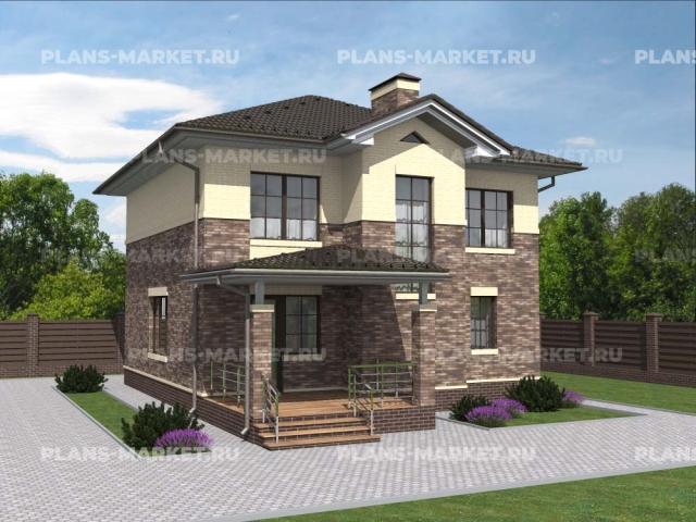 Готовый проект загородного дома К-121