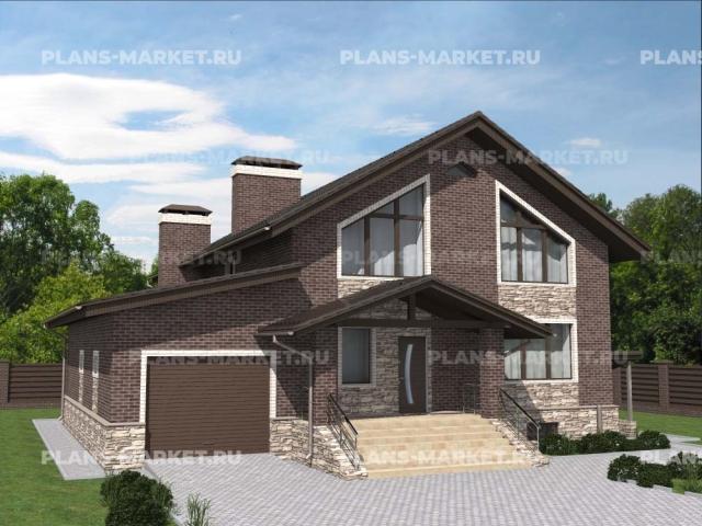 Готовый проект загородного дома К-148-1