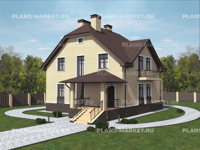 Готовый проект загородного дома К-159