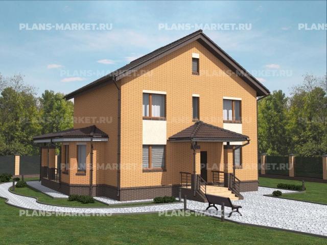 Готовый проект загородного дома Гс-125-1