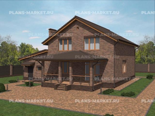 Готовый проект загородного дома К-188
