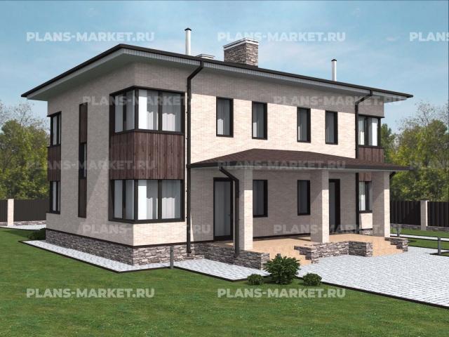 Готовый проект загородного дома К-202