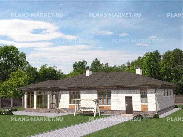Готовый проект загородного дома Гс-117
