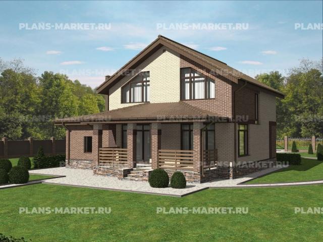 Готовый проект загородного дома К-148-2