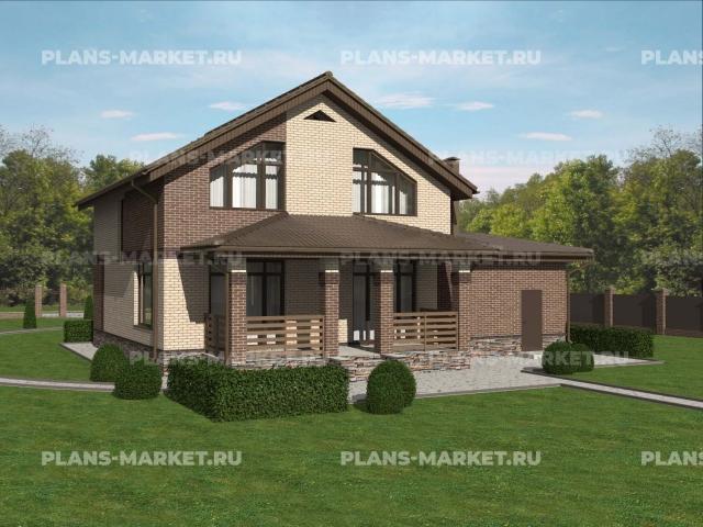 Готовый проект загородного дома К-148-5
