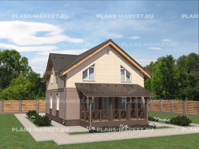 Готовый проект загородного дома Гс-119