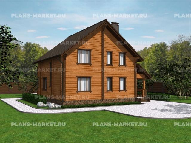 Готовый проект загородного дома Д-124