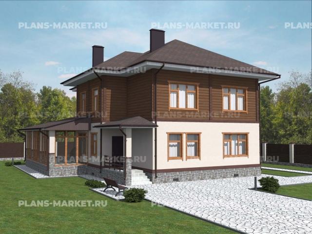 Готовый проект загородного дома Гс-248