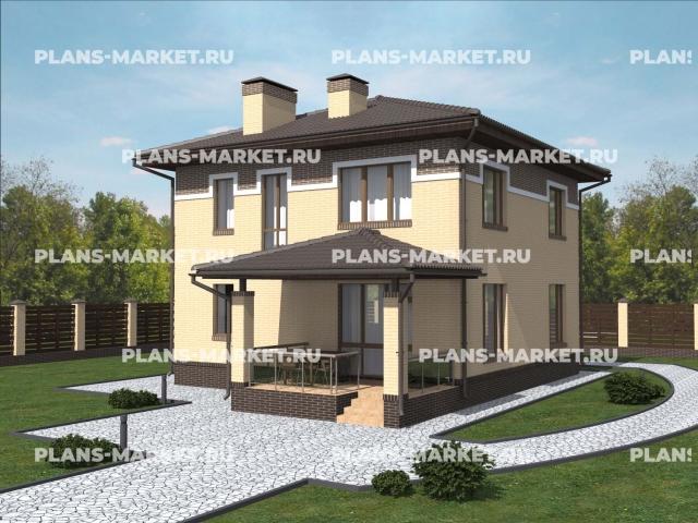 Готовый проект загородного дома К-119