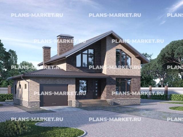 Готовый проект загородного дома Гс-132