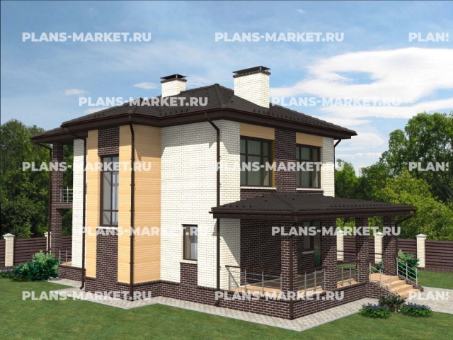 Готовый проект загородного дома Гс-116-1