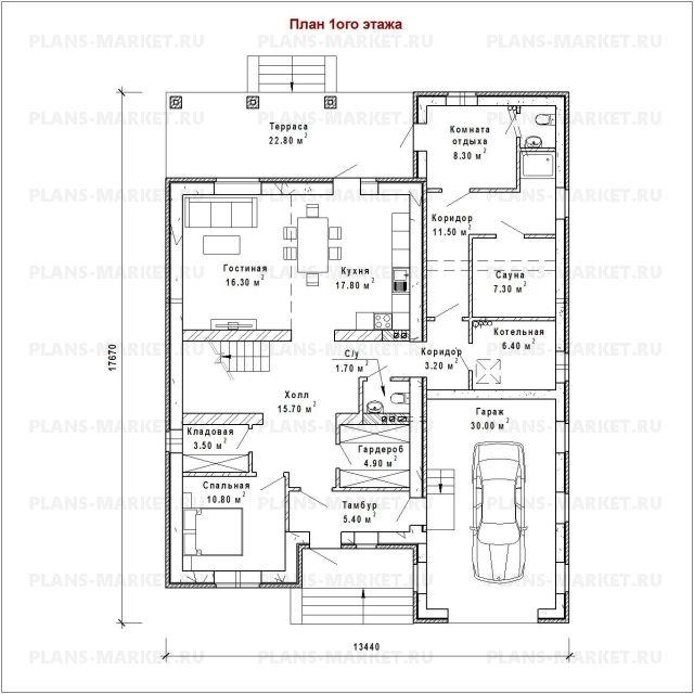Готовый проект загородного дома Гс-220