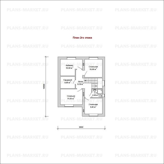Готовый проект загородного дома Гс-122