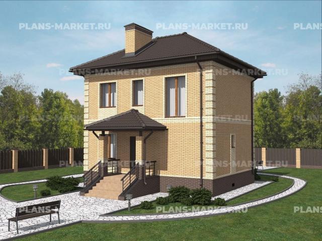 Готовый проект загородного дома Гс-81