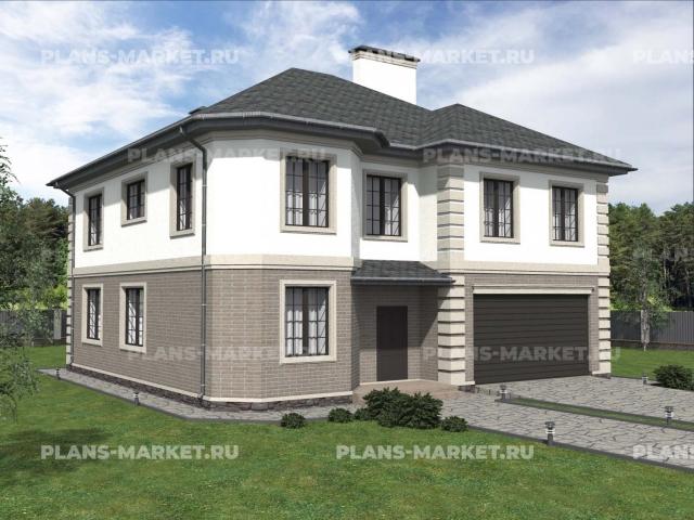 Готовый проект загородного дома Гс-295