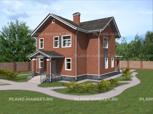 Готовый проект загородного дома Гс-135