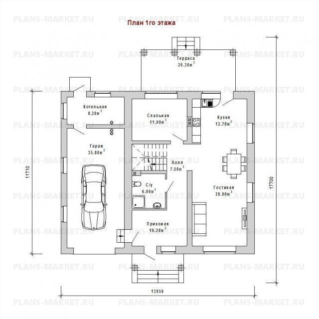 Готовый проект загородного дома Гс-197