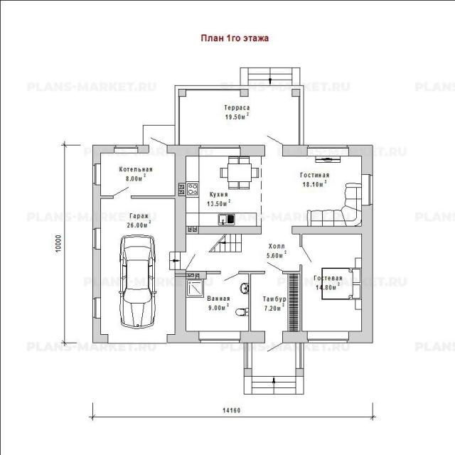 Готовый проект загородного дома Гс-137