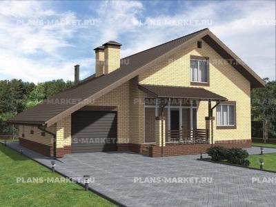 Готовый проект загородного дома Гс-181