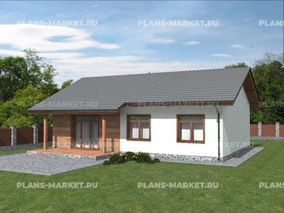 Готовый проект загородного дома К-103