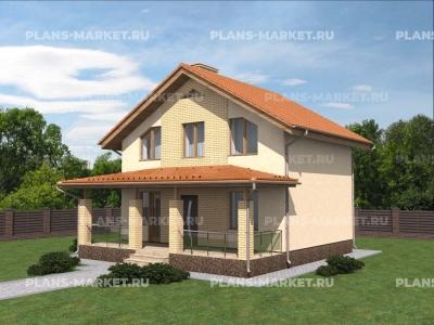 Готовый проект загородного дома Гс-71