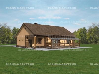 Готовый проект загородного дома Гс-113а