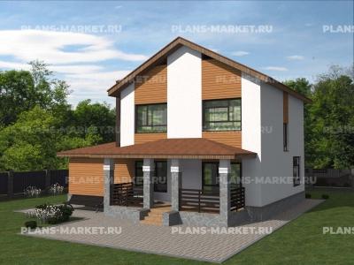 Готовый проект загородного дома Гс-161-1