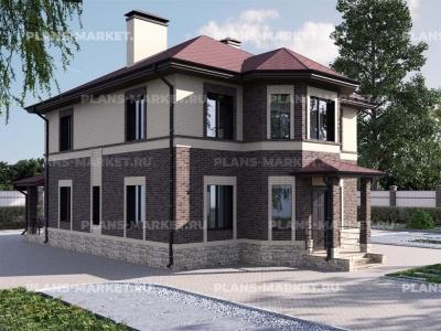 Готовый проект загородного дома Гс-158