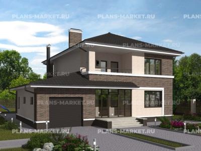 Готовый проект загородного дома К-136-1