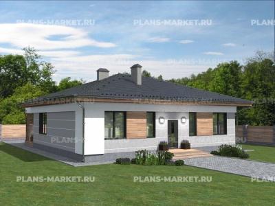 Готовый проект загородного дома Гс-133