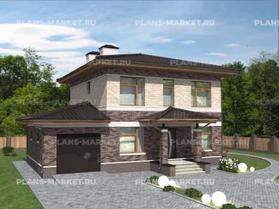 Готовый проект загородного дома Гс-138