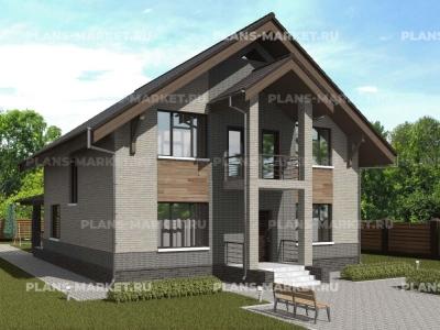 Готовый проект загородного дома К-182а
